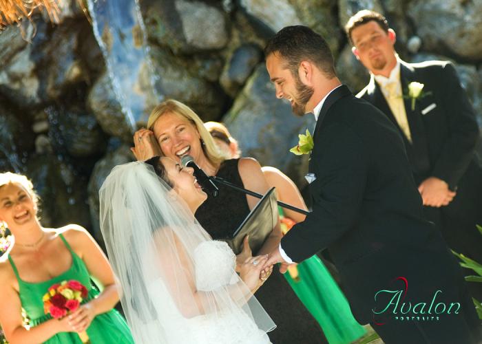 Laughing Wedding Photo